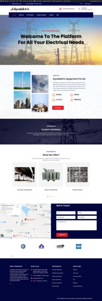 Dynalektric - website designing service